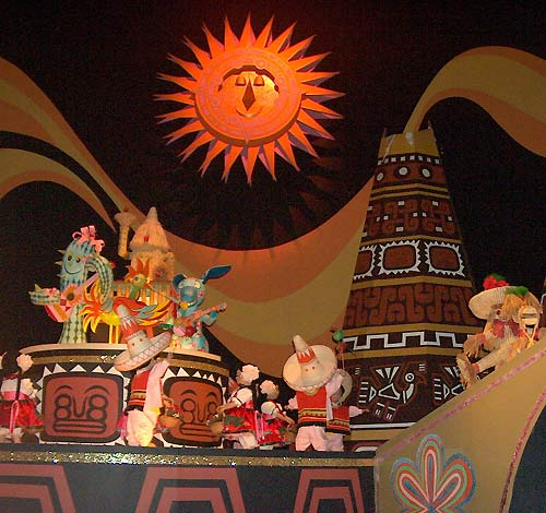 The Golden Sun from It's a Small World Ride, Disneyworld, courtesy of themeparks.about.com